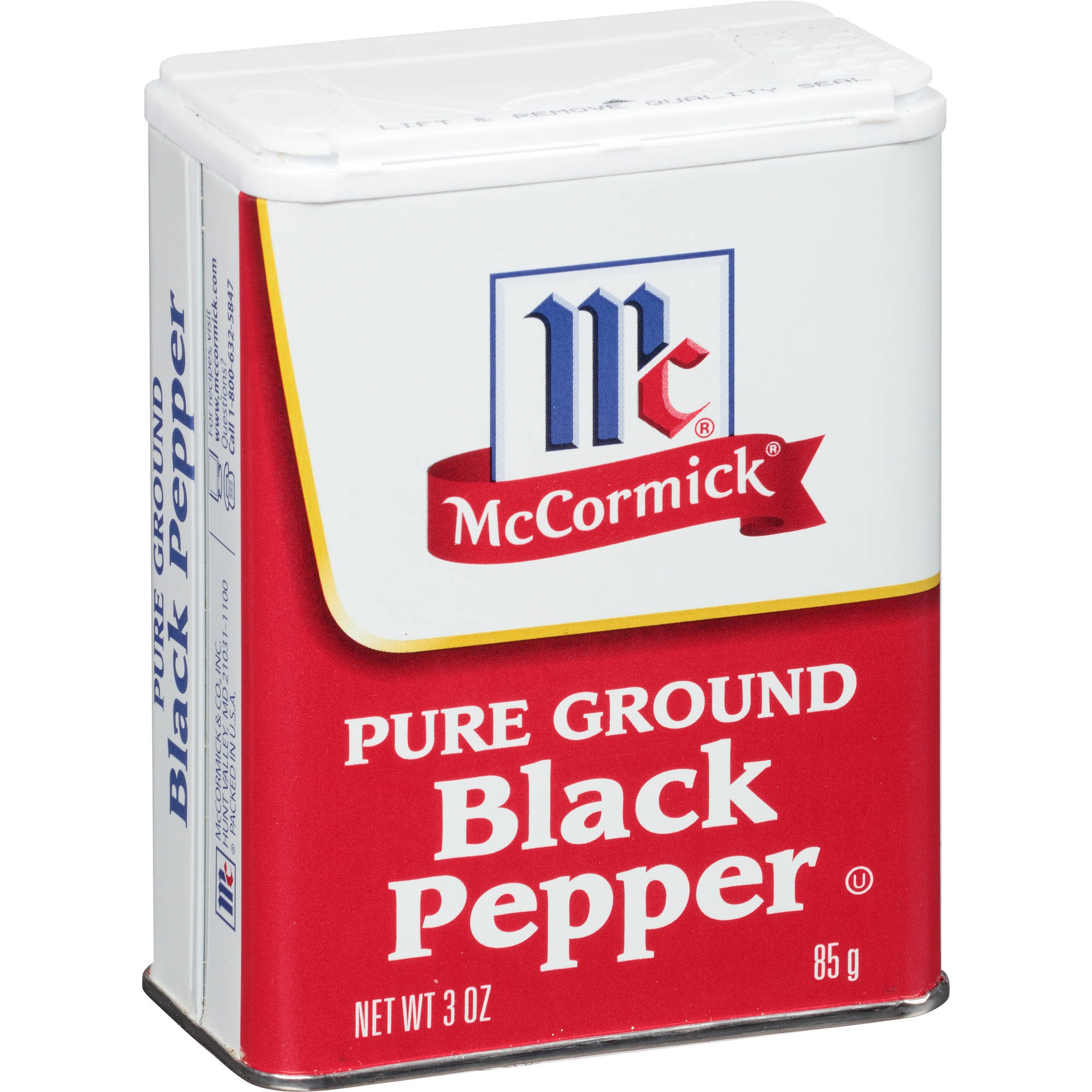 McCormick Pure Ground Black Pepper, 3 oz
