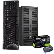 HP Gaming PC Computer 16GB 500GB SSD 1TB HDD Nvidia GT1030 WiFi Windows 10 HDMI Wireless Keyboard and Mouse