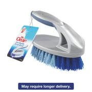 "Mr. Clean Iron Handle Brush, 6 1/2"" Brush, 1 1/2"" Bristles, Gray/Blue, 3/Box"