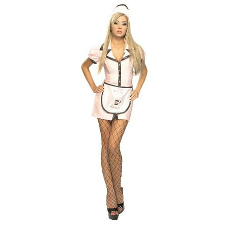 Soda Halloween Costume (Secret Wishes Costume 50S Soda Pop Girl Adult Costume, Multi,)