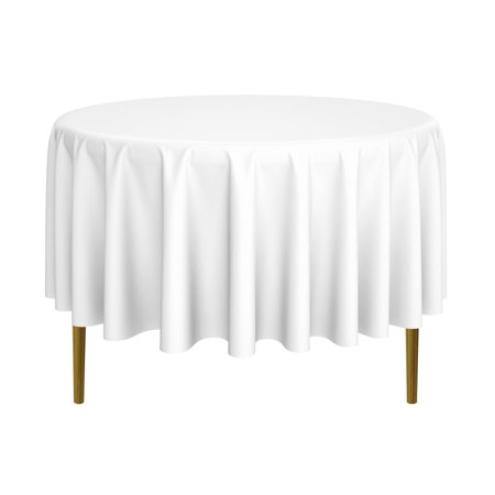 108 Inch Round Tablecloth - lann's linens - round premium tablecloth for wedding / banquet / restaurant - polyester fabric table cloth (multiple colors & sizes)