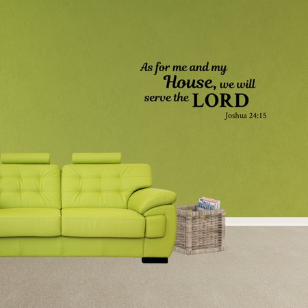 Wall Decal Quote As For Me And My House We Will Serve The Lord