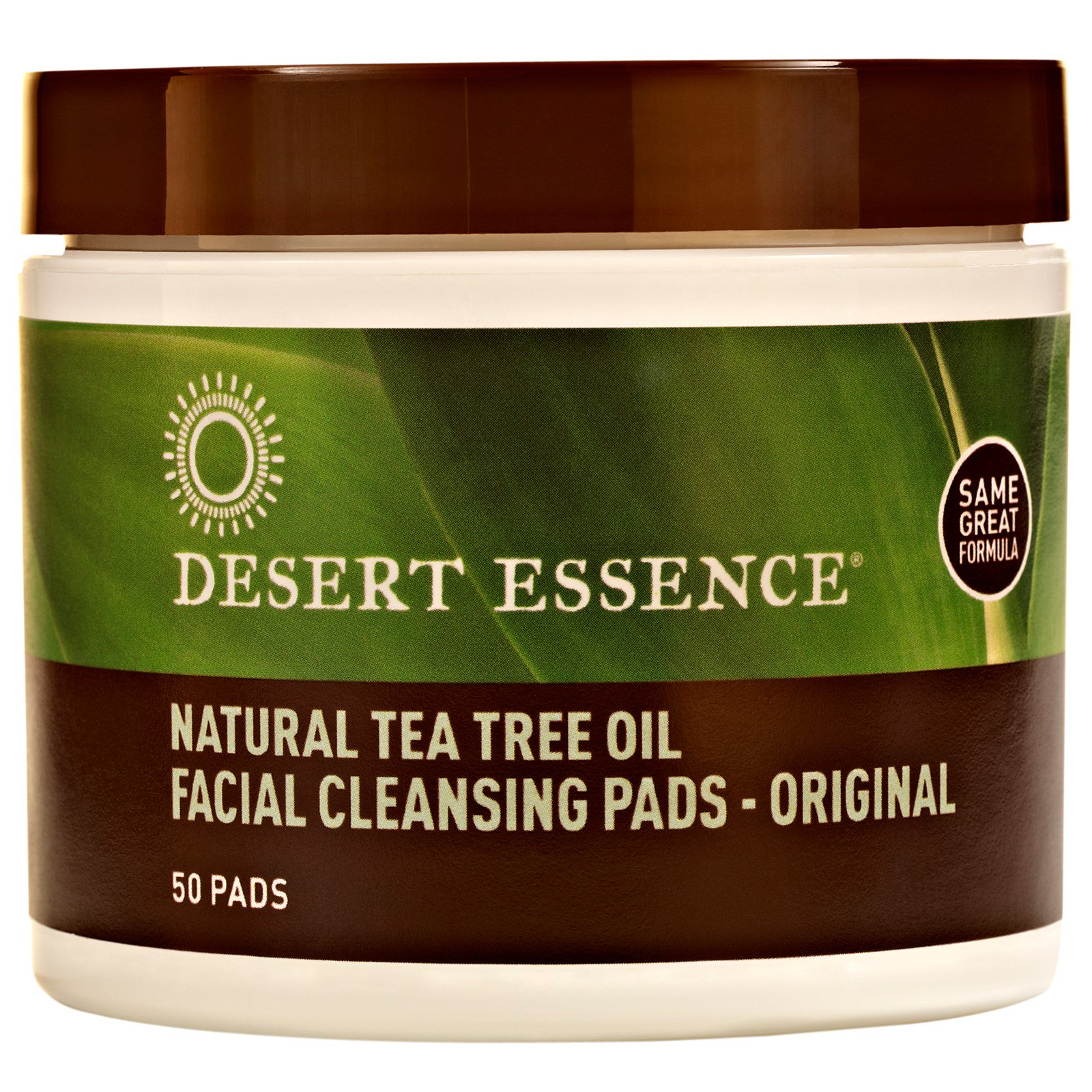 Desert Essence, Natural Tea Tree Oil Facial Cleansing Pad...