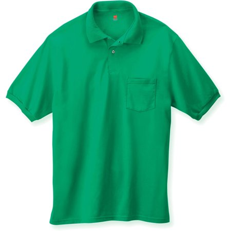 Cotton-Blend Jersey Men`s Polo with Pocket - Best-Seller, 0504,
