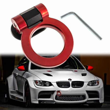 - Xotic Tech JDM Sports Red Track Racing Style Tow Hook Ring For All Car Truck SUV