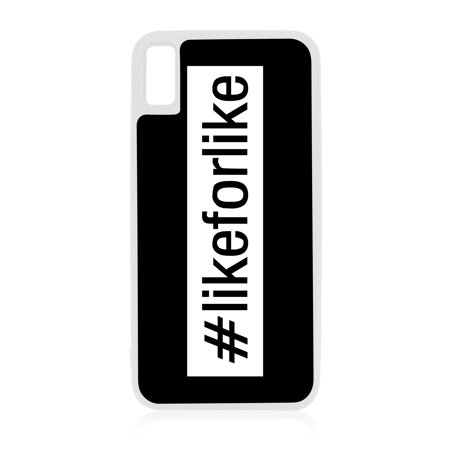 Hashtag Likeforlike #Likeforlike Design White Rubber Case ...