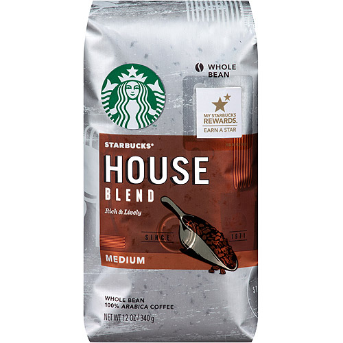 Starbucks�� Medium House Blend Whole Bean Coffee 12 oz. Bag