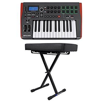 Novation IMPULSE 25 Ableton Live 25-Key MIDI Keyboard Controller + Padded Bench by NOVATION