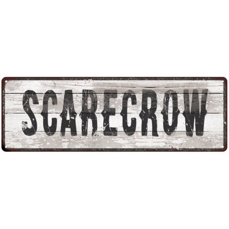 SCARECROW Ship Lap Look Distressed Metal Sign 6x18 Country Chic Wall Décor .040 Thick Low Lustre M61800078