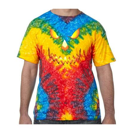 Pumpkin Head Halloween Tie Dye Tee Shirt - Woodstock, Extra Small Kids (2-4)