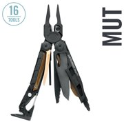 Leatherman - Mut Multitool With Premium Replaceable Wire Cutters And Firearm Tools, Black With Molle Brown Sheath