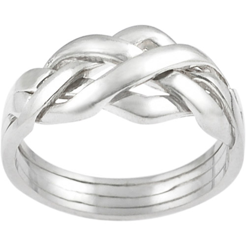 Brinley Co. Four-Piece Puzzle Ring in Sterling Silver