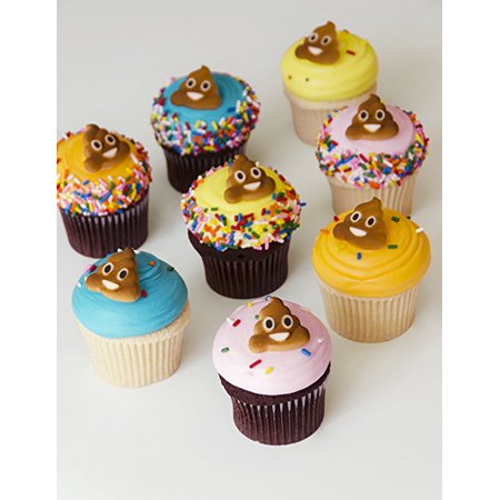 Poop Emoji Sugar Decorations Toppers Cupcake Cake Cookies