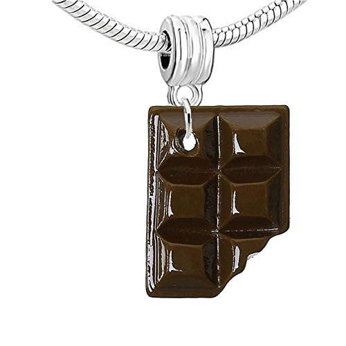 Sweet Chocolate Candy Bar Charm Bead (Milk Chocolate)