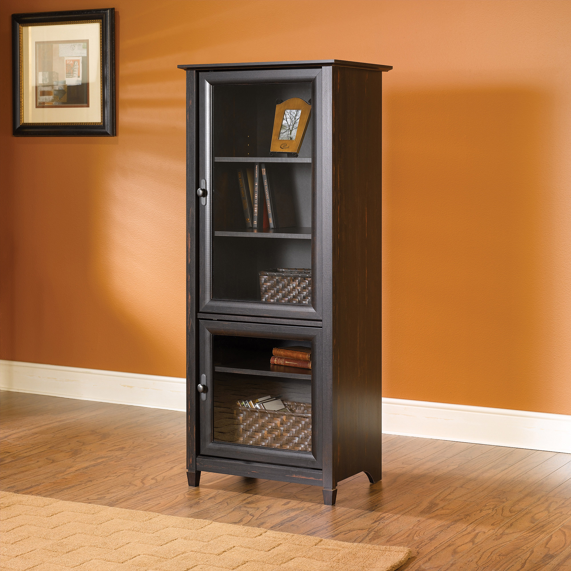 Sauder Vinegate Storage Tower, Antiqued Paint