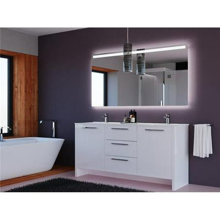 Casa mare nona180gw 71 71 in double sink modern - Freestanding double bathroom vanity ...