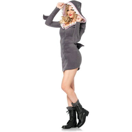 Leg Avenue Women's Cozy Shark Halloween Costume - One Leg Flamingo Halloween Costume