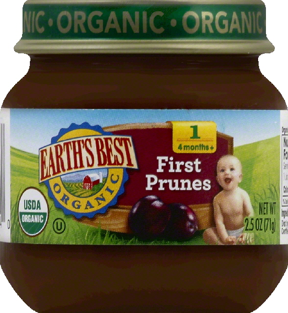 Earths Best First Prunes, 1 (4 Months+)