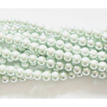 UnCommon Artistry Glass Pearl Beads 75pcs 8mm - Mint Green