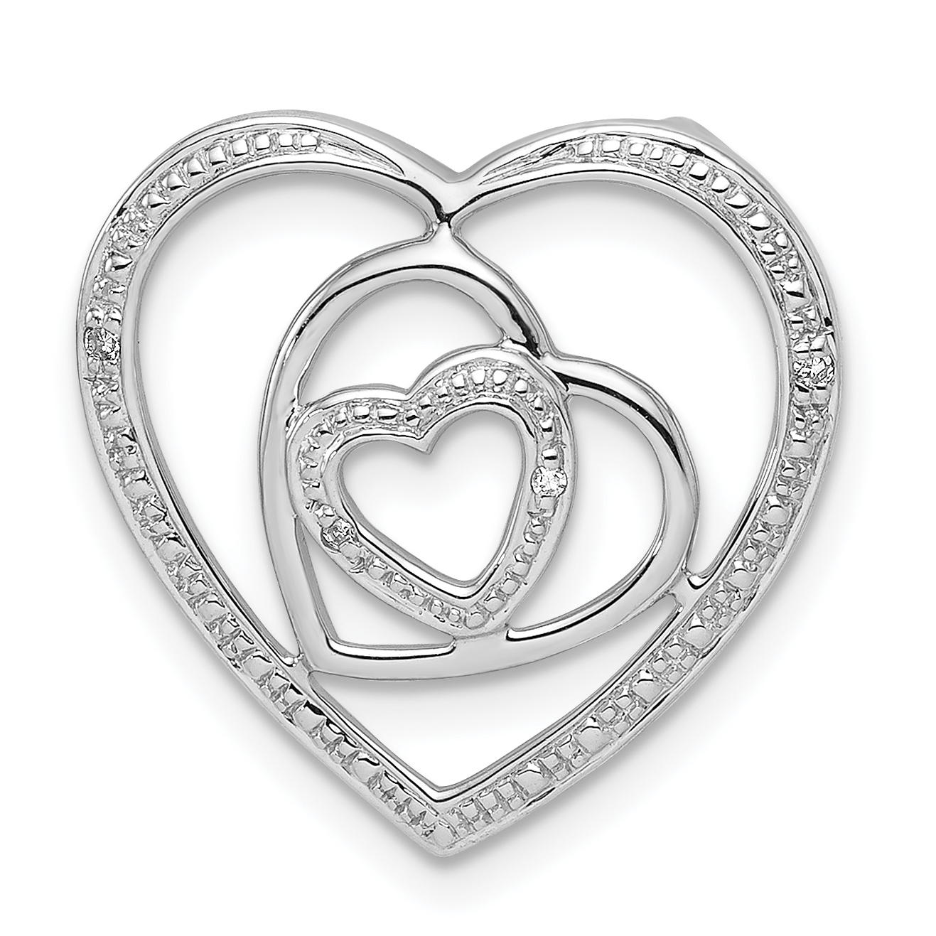 ICE CARATS 925 Sterling Silver Diamond Triple Heart Pendant Charm Necklace Fine Jewelry Ideal Gifts For Women Gift Set From Heart
