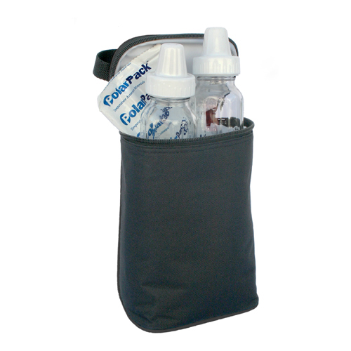 JL Childress 2-Bottle TwoCOOL Baby Bottle Cooler Bag, Black