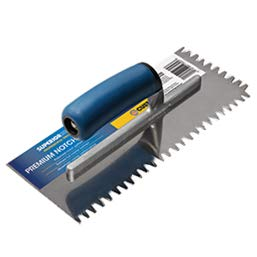 x 1//2 in x 1//2 in ProBilt Series Square Notch Trowel SuperiorBilt Tools 1//2 in
