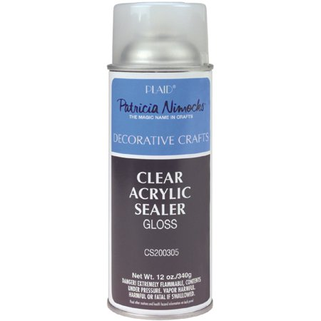 Plaid Patricia Nimock' s Clear Acrylic Spray Sealer, Gloss, 12 oz.