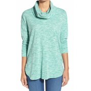 two by vince camuto new green women size xl marled cowl neck sweater