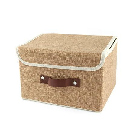 Household Cotton Linen Towel Socks Book Paper Holder Storage Box Organizer Khaki - image 5 of 5