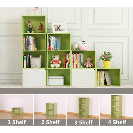Yosoo 3/4-Shelf Shelving Bookcase,Wooden Bookcase Stand Cube Storage Unit Bookshelf CD Display Shelving Unit free combination
