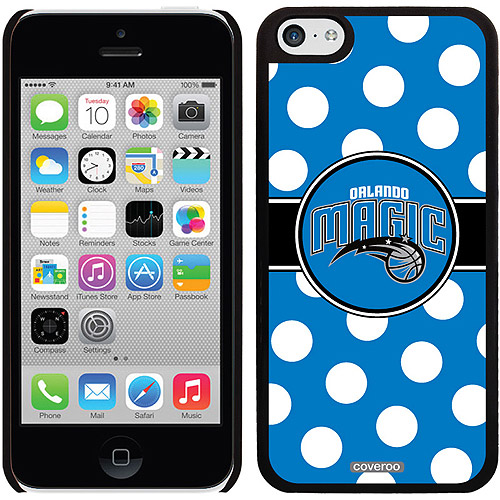 Orlando Magic Polka Dots Design on Apple iPhone 5c Thinshield Snap-On Case by Coveroo