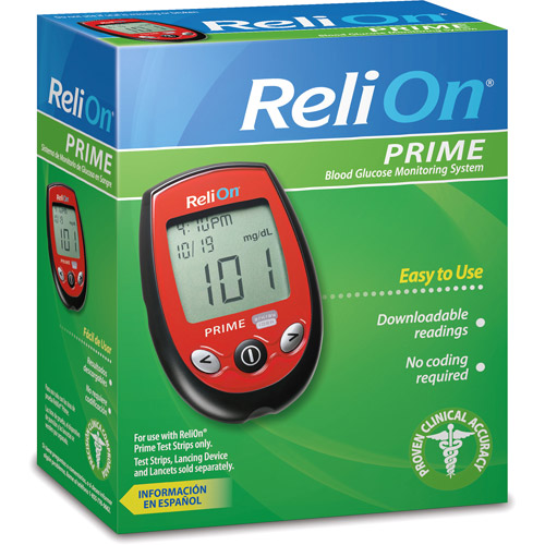 ReliOn Prime Blood Glucose Monitoring System, Red