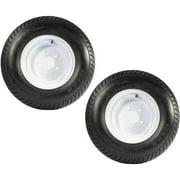 2-Pack Trailer Tire On Rims 20.5 X 8 X 10 205/65-10 20.5X8.0-10 5Lug White
