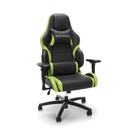 respawn 400 racing style gaming chair big and tall leather chair office or gaming chair green. Black Bedroom Furniture Sets. Home Design Ideas