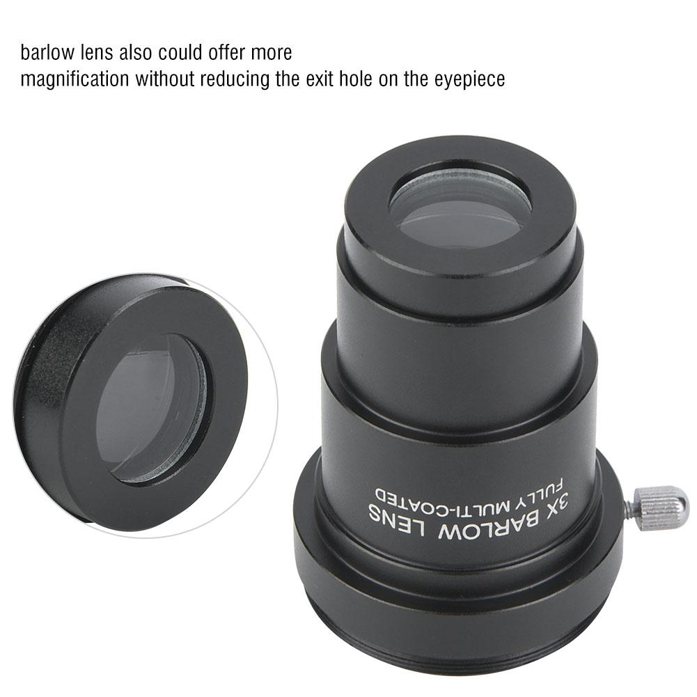 Xinwoer Astronomical Telescope Eyepiece 2X Barlow Lens M42x0.75 Thread Interface for 1.25 Astronomical Telescope Eyepieces,for Observations Moon,Planets,Nebulae,ect