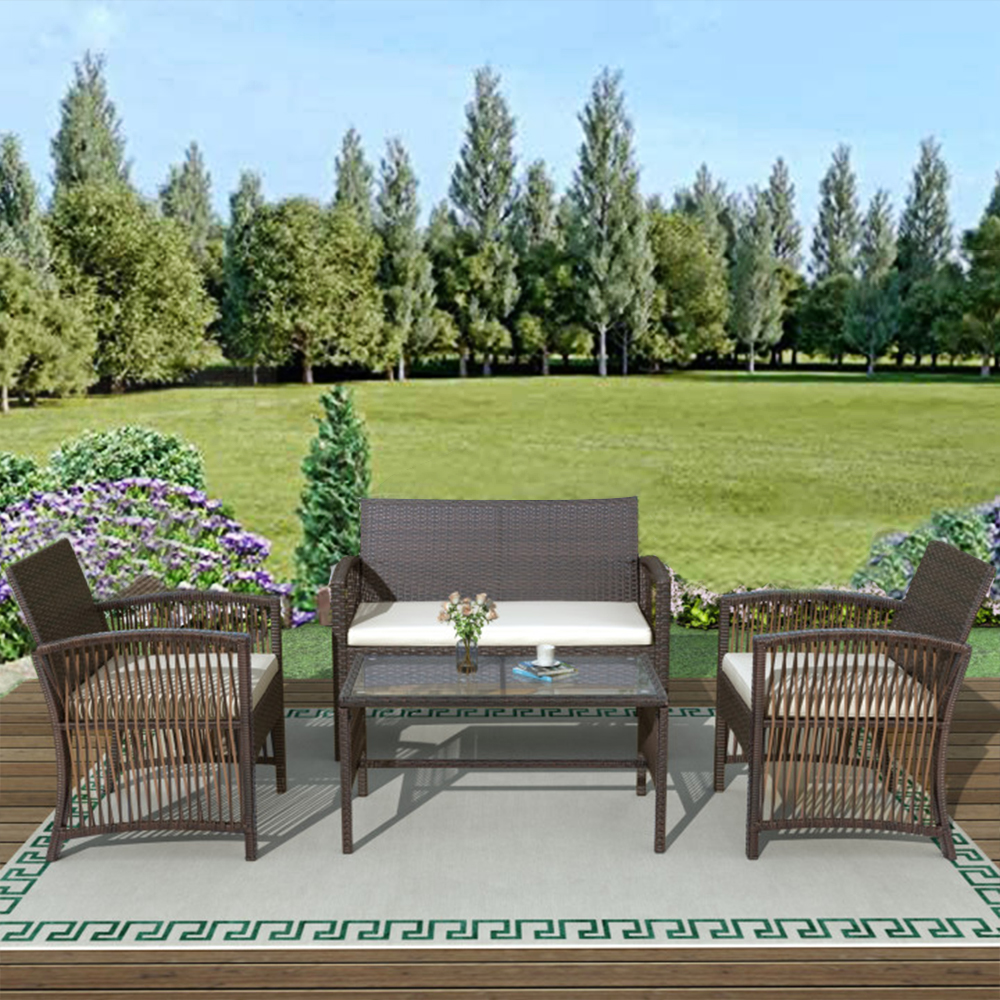 4-Piece Outdoor Furniture Wicker Sets on Sale, SEGMART ...