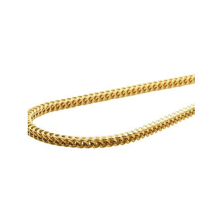 """10K Yellow Gold 3MM Hollow Franco Box Link Chain Necklace 18-30 Inches-30"""""""