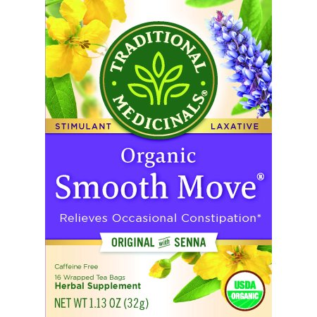 Traditional Medicinals Organic Smooth Move Tea Bags, 16 (Detox Original Tea)
