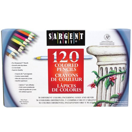 Sargent Art® Colored Pencils, 120 colors (Map Color Pencils)