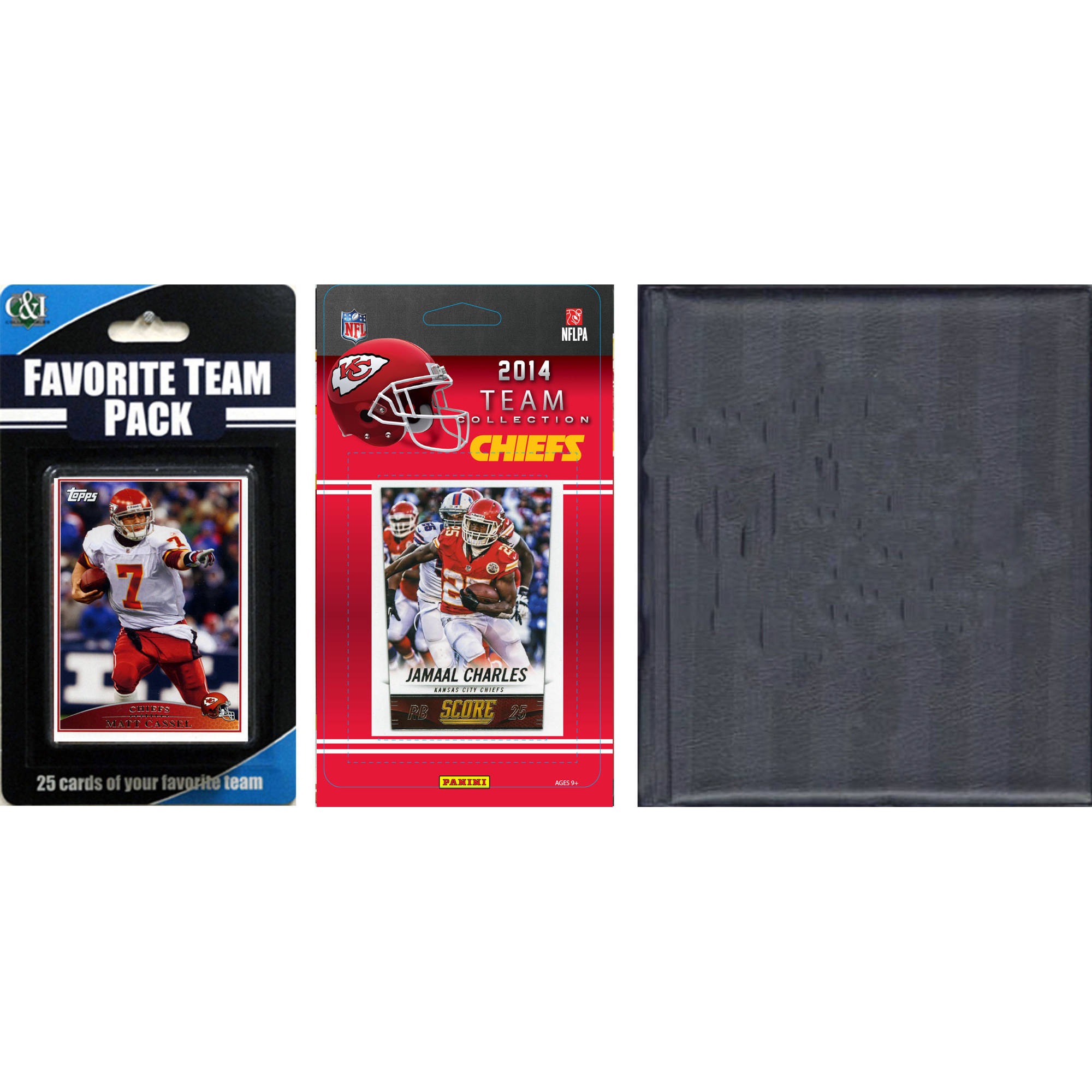 C&I Collectables NFL Kansas City Chiefs Licensed 2014 Score Team Set and Favorite Player Trading Card Pack Plus Storage Album