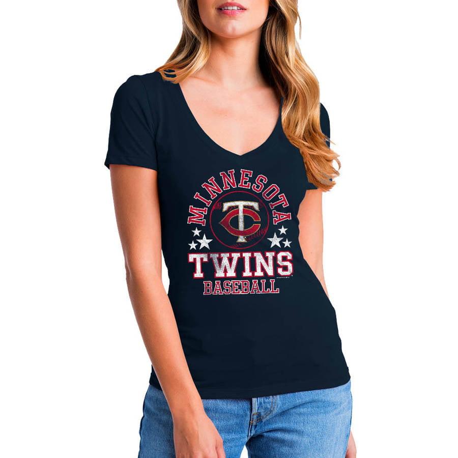 MLB Minnesota Twins Women's Short Sleeve Team Color Graphic Tee