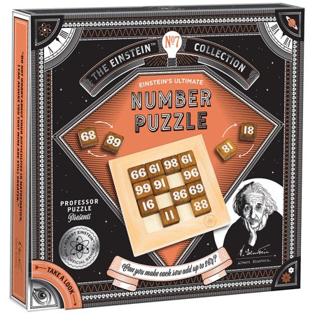 Einstein Number Puzzle - Logic And Math Skills To Arrange Wood Tiles Ages (Math Color Tiles)