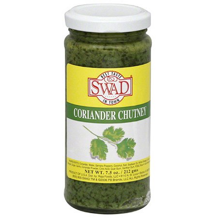 Swad Coriander Chutney, 7.5 oz, (Pack of 12)