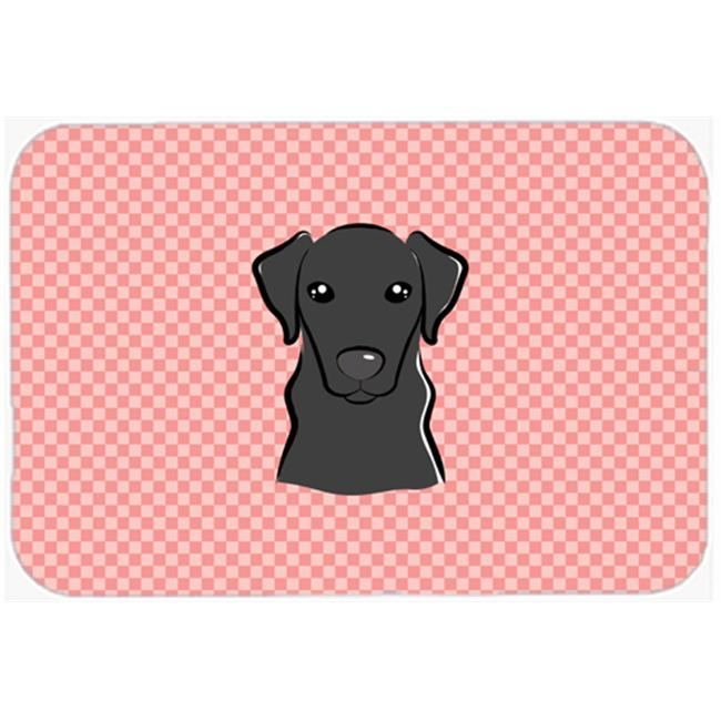 Checkerboard Blue Yellow Labrador Mouse Pad, Hot Pad Or Trivet, 7.75 x 9.25 In.