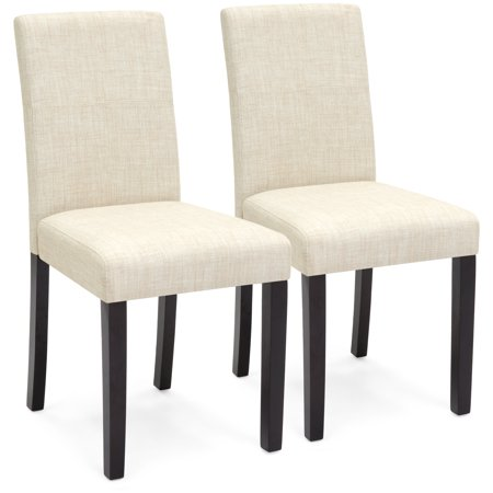 Best Choice Products Set of 2 Fabric Parsons Dining Chairs - Beige
