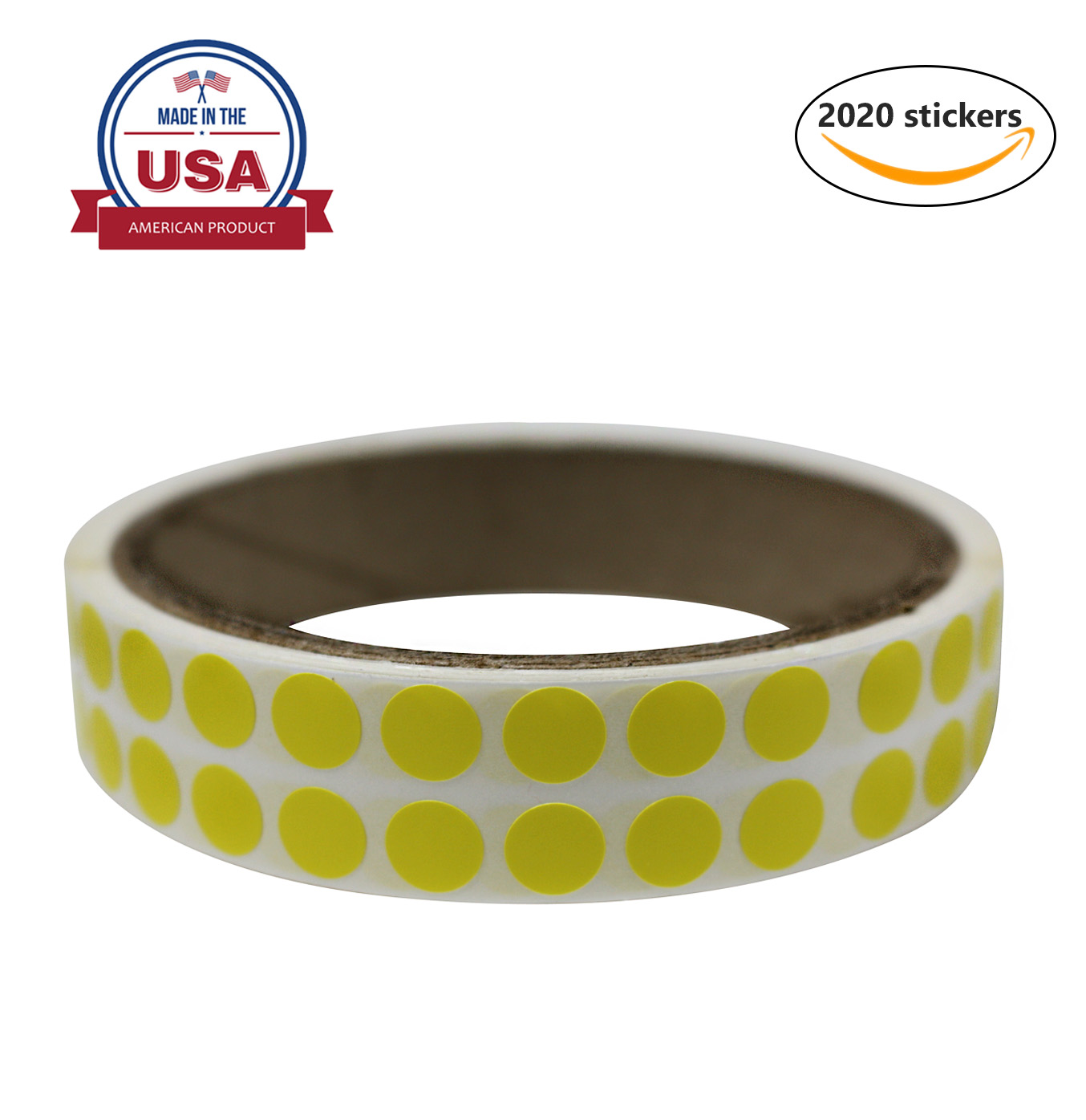 "Color coding sticker label, Red stickers dots in 8mm 1/4"" inch - 2020 Pack by Royal Green"