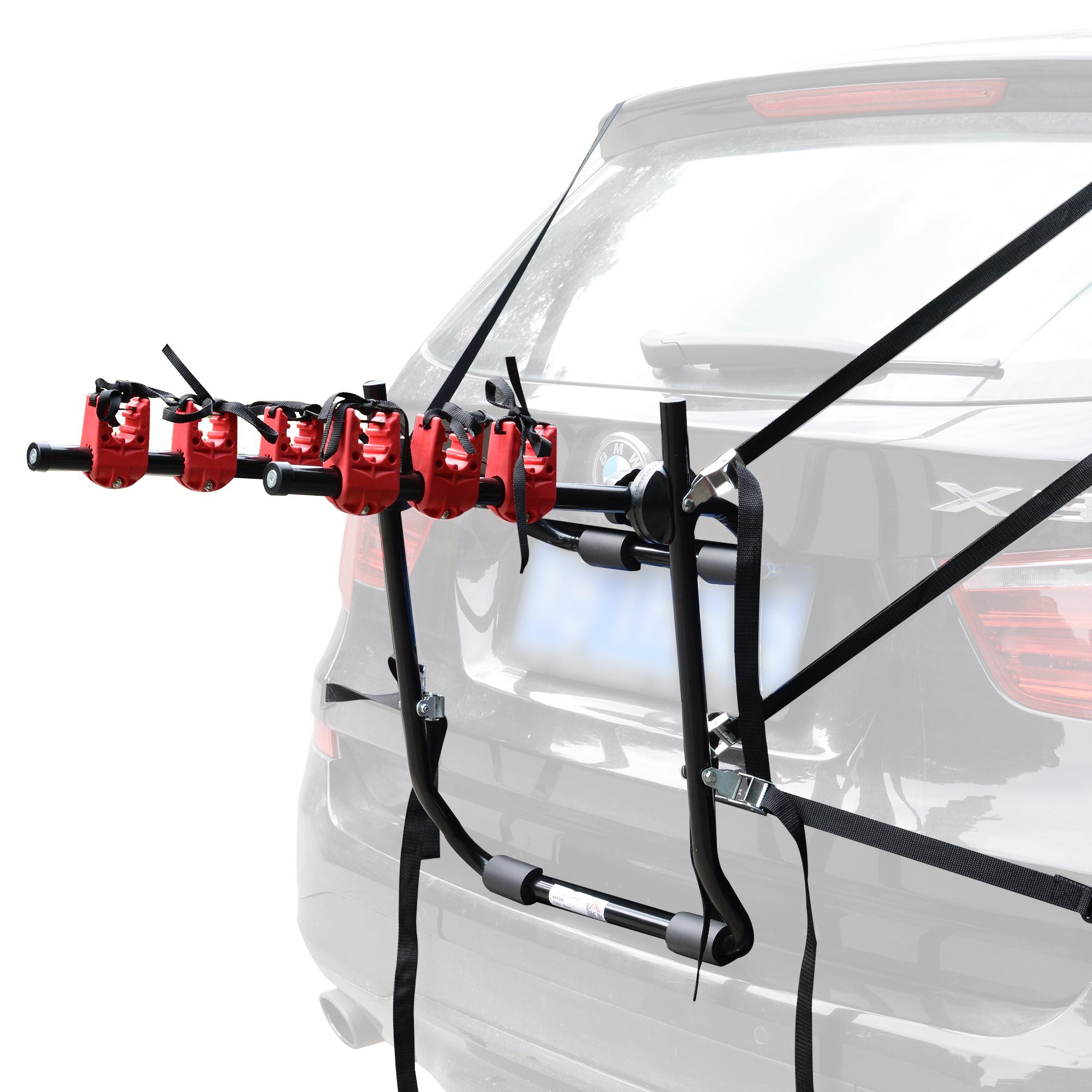 SUVs Hatchbacks XCAR 2-Bike Trunk Mount Bike Rack Bicycle Carrier Universal Fits Most Sedans Minivans