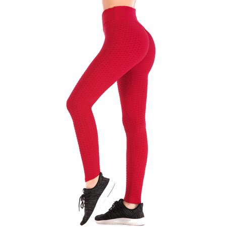 5229ba23c82 SAYFUT - Women High Waist Stretch Yoga Pants Profession Fitness Workout  Sport Pants Solid Tight Leggings White Black Blue Red Gray - Walmart.com