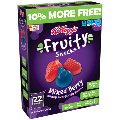 Kellogg's Mixed Berry Fruity Snacks, 22 count