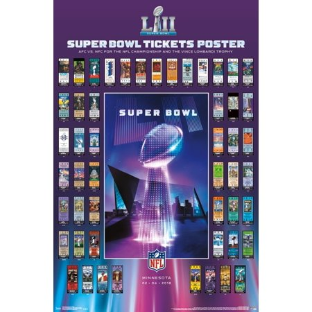 Super Bowl Ticket Poster - Super Bowl LII - Tickets Poster Print